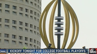 Kickoff tonight for National Championship game in Tampa - Video