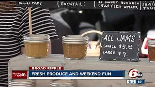 Local farmers and artisans out at the Broad Ripple Farmer's Market