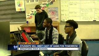 Kenosha students to meet cast of Hamilton - Video