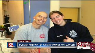 Former Tulsa firefighter battling cancer, raising money for kids - Video