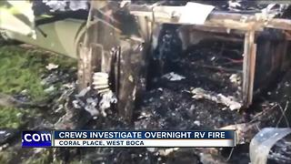 RV fire evacuates homes in West Boca - Video
