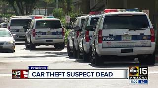 Car theft suspect dies after confrontation with Phoenix police - Video