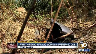 Families grieve two found in submerged car - Video
