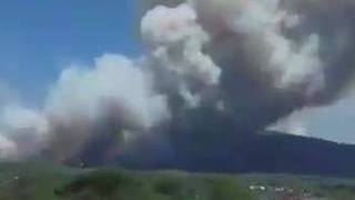 Wildfires Rage on Mount Vesuvius - Video