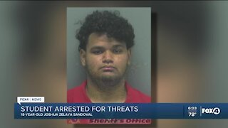 Student arrested for threats