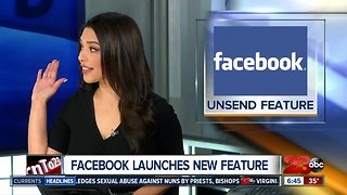 Facebook launches 'unsend' feature