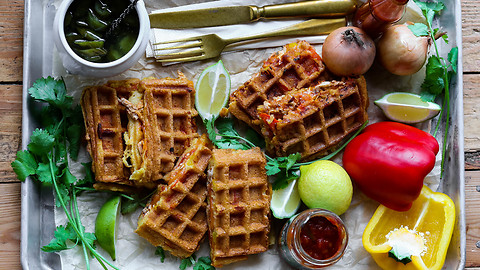 Easy And Fun Making Of Waffle Enchiladas