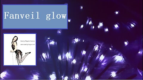 Night glow fanveils - dancing led fanveils in the dark
