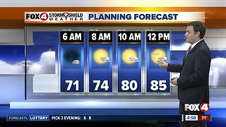 Forecast: For your Friday expect afternoon and evening storms with highs near 90.