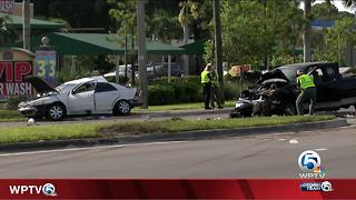 3 people injured in rollover crash in suburban Lake Worth