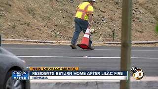 Lilac Fire victims return home to rubble - Video