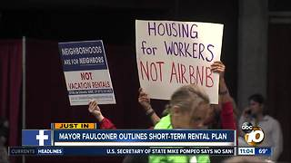 Mayor Faulconer outlines short-term rental plan - Video