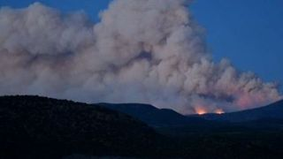 Smoke Rises From Pine Valley Mountain Fire in Utah - Video