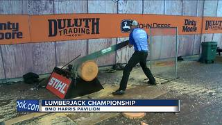 Lumberjack competition comes to MKE German Fest - Video