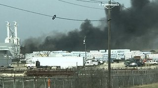 Black Smoke Billows from Chemical Plant Fire in Cresson - Video