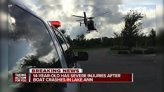 Teen airlifted to hospital with serious injuries after boating accident in Odessa