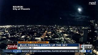 Blue fireball lights up Arizona sky - Video