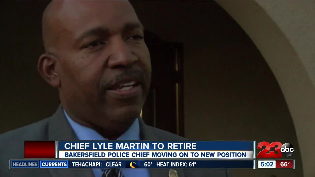Chief Lyle Martin retiring from Bakersfield Police Department