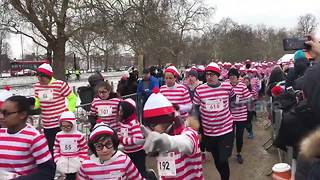 Thousands of Wallies brave Mini Beast from the East for UK fun run - Video