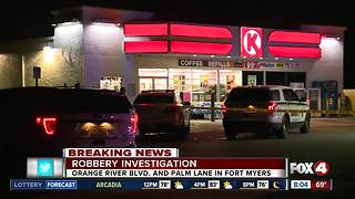 Robbery under investigation at Fort Myers Circle K gas station - Video