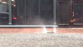 Manhole Turns into Water Fountain as Flash Flooding Hits New Orleans - Video