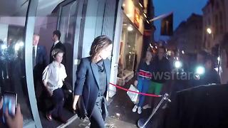 The Beckham family leave 'What I See' book launch party in London - Video