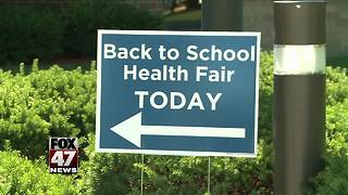 Ingham County holds back to school health fair - Video