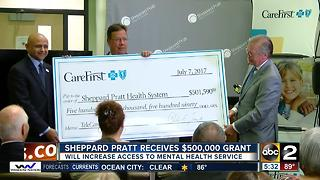 Sheppard Pratt receives $500k grant from CareFirst BlueCross BlueShield - Video