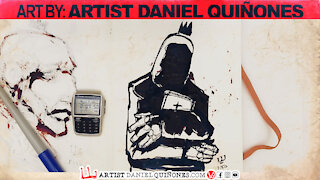 Mixed Drawings Vol. 3 Time lapse without picking up my pen - by Artist Daniel Quinones