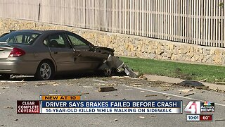 Report: Driver in crash that killed teen said brakes were faulty