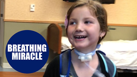 Girl tethered to huge ventilator all her life finally free after op to help her breathe
