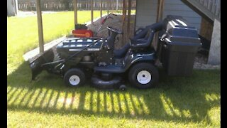DIY Riding electric lawn tractor, snow removal