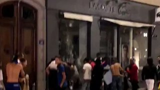 Looters Ransack Sports Shop in Lyon After France World Cup Victory