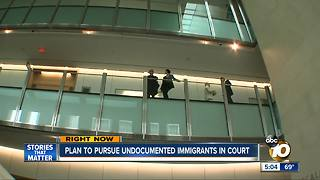 Plan to pursue undocumented immigrants in court - Video