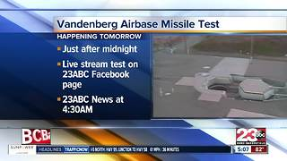 Vandenburg Missile Test - Video