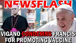 Archbishop Vigano CONDEMNS Pope Francis for Promoting the Vaccine | NEWSFLASH