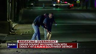 Man killed during hit-and-run in southwest Detroit - Video