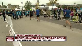 Milwaukee marathon course was about 4,200 feet short, race organizers say - Video