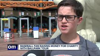 Baseball fan raising money for charity with ballpark tour stops at Comerica Park - Video