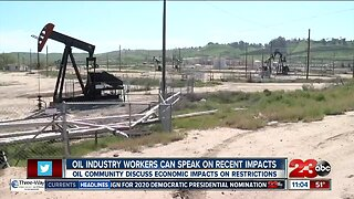 Oil community to discuss economic impacts on restrictions