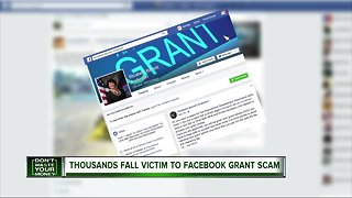 Thousands fall victim to Facebook grant scam