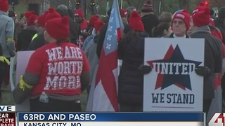Workers demanding higher pay - Video