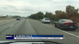 Operation Ghostrider is cracking down on distracted driving along the I-75 corridor in Auburn Hills
