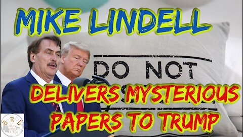 Mike Lindell Visits White House with Papers for the President!