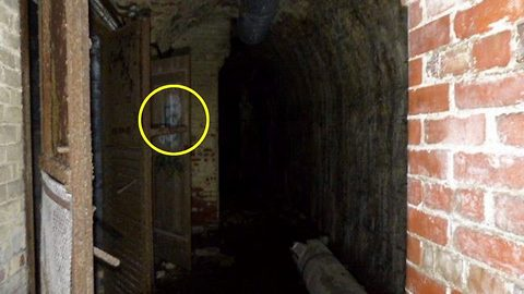 Explorer left shocked when he sees ghost of 'Uncle Fester' in the door of abandoned bunker