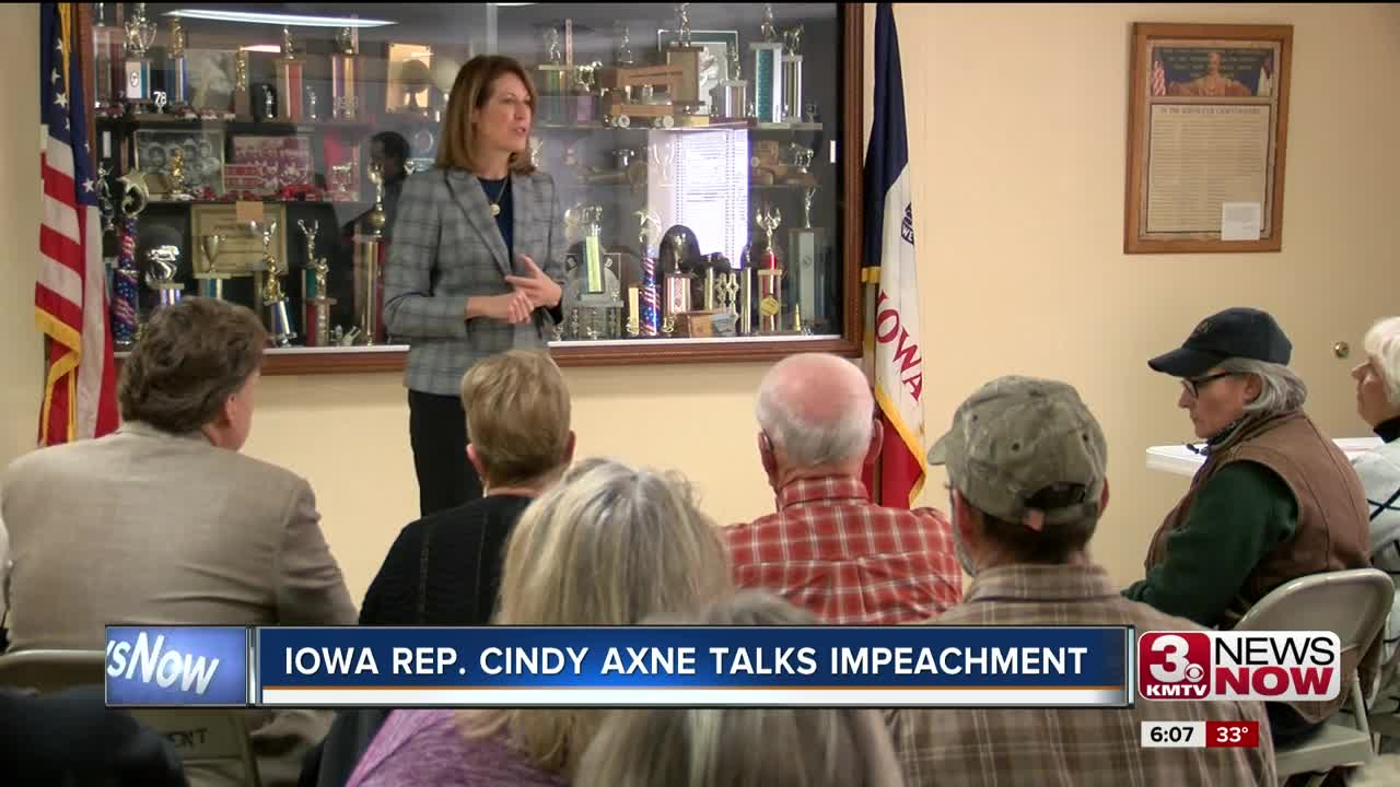 Iowa Rep. Cindy Axne talks impeachment
