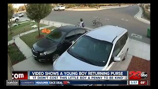 Caught on Camera: Video shows young boy returning purse
