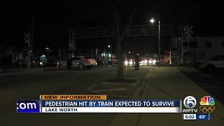 Person injured after being struck by freight train in Lake Worth