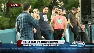 DACA rally happening in downtown Tucson - Video