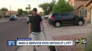 Lyft driver denies Valley man ride for having service dog - Video